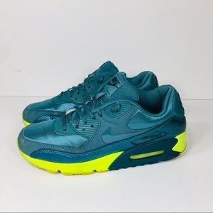 Nike Air Max 90 Teal Green Mesh Sneakers Shoes 9.5